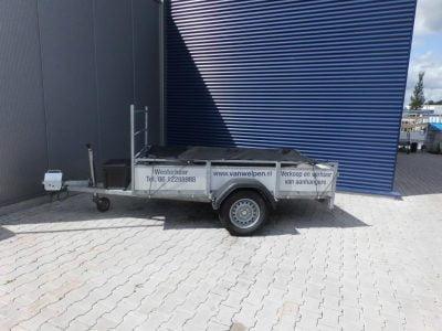 1.30x2.50-bakwagen met koprek-ongeremd-15euro incl-750kg 1