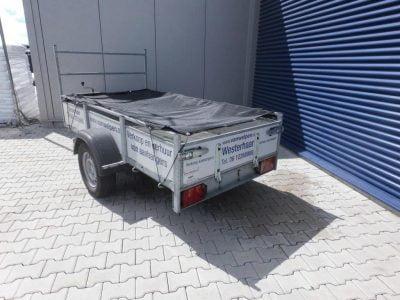 1.30x2.50-bakwagen met koprek-ongeremd-15euro incl-750kg 2
