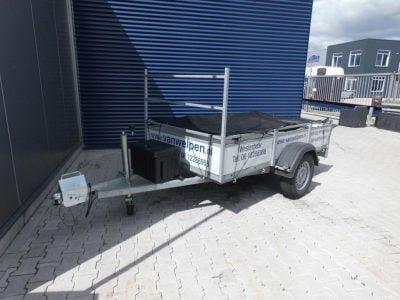 1.30x2.50-bakwagen met koprek-ongeremd-15euro incl-750kg