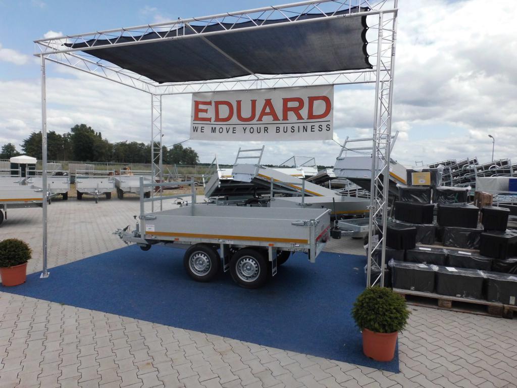 1.50 x 2.60 - pleateau wagen - ongeremd dubbelasser - 750 kg 1