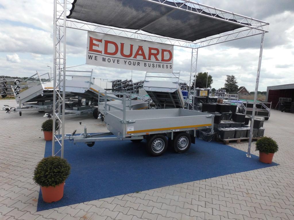 1.50 x 2.60 - pleateau wagen - ongeremd dubbelasser - 750 kg 3