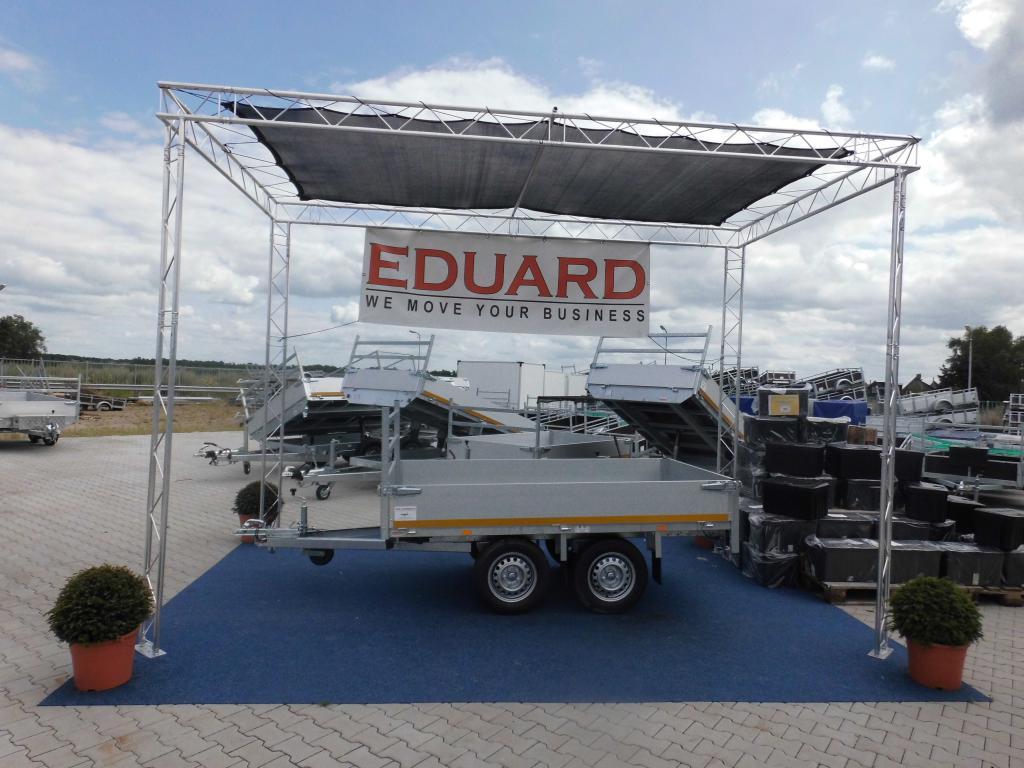 1.50 x 2.60 - pleateau wagen - ongeremd dubbelasser - 750 kg